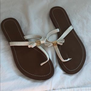 Worn twice Tory Burch sandals with gold details